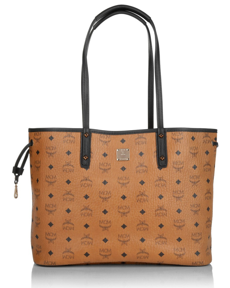 mcm damen mcm tasche project visetos reverse shopper medium cognac in cognac umh ngetasche. Black Bedroom Furniture Sets. Home Design Ideas