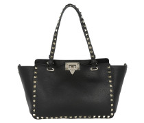 Rockstud Small Tote Calf Black