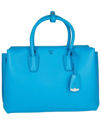 mcm damen mcm tasche milla tote medium tile blue in blau henkeltasche f r damen reduziert. Black Bedroom Furniture Sets. Home Design Ideas