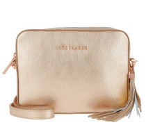 Darwina Metallic Tassel Camera Bag Rose Gold gold