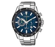 Uhr Titanium Wristwatch Silver Blue