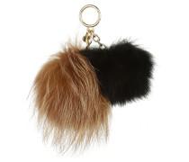 Sister Pom Fur Natural/ Black Schlüsselanhänger braun