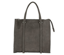 Thirtyseven Shopper M Luxury Suede Grey Umhängetasche