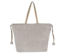 Velluto Stampa Sienna Handbag Light Grey