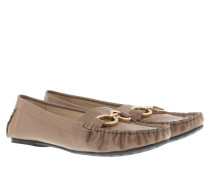 Selena Moccasin Patent Leather Light Brown