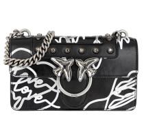 Umhängetasche Mini Love Neon Crossbody Bag Black/Silver/White schwarz
