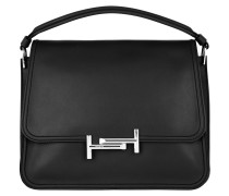 Double T Bag Black Satchel