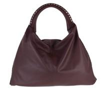 Hobo Bag Rockstud Satchel Leather Rubin