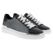 Max Lace Up Black Sneakers weiß