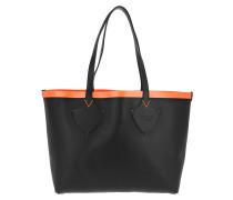 Shopping Bag Tote Black Neon Orange