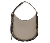 Hobo Bag Darryl Small Leather Motty Grey
