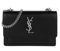 Monogram Sunset New Aspen Chain Wallet Calfskin Nero Umhängetasche
