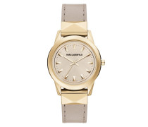 Armbanduhr - Labelle Stud Ladies Watch Beige/Gold