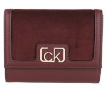 Portemonnaie Trifold Wallet Medium V Wine
