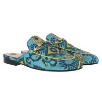Princetown Slipper Lamé Brocade Azzuro/Multicolor Schuhe gold Princetown Slipper Lamé Brocade Azzuro/Multicolor Schuhe blau