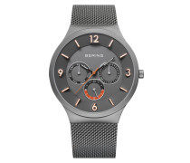 Uhr Watch Classic Men Grau