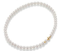 Halskette Necklace Cultured Akoya Pearl Gold