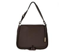 Velvet Medium Handbag Dark Brown Satchel braun