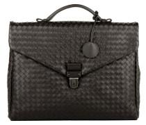 Handtasche - Men's Briefcase Cartella Intrecciato Espresso