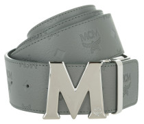 Embossed Logo Flat M Belt Grey 130 cm Gürtel