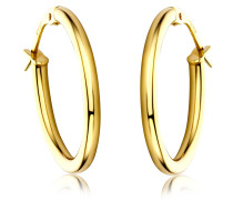 Ohrringe Creole Earring Oval 14KT Yellow Gold