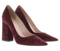 Pumps - Pointed Suede Pumps Bordo