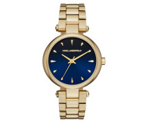 Ladies Aurelie Watch Gold/Blue Armbanduhr gold