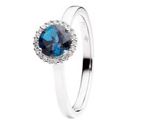 Ring Espressivo Topas London Blue Faceted