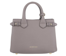 Tasche - House Check Derby Leather Small Banner Tote Thistle Grey