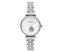 Uhr Emporio Armani Three-Hand Stainless Steel Watch Silver