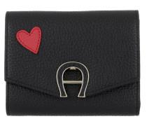 Fashion Heart Wallet Black Portemonnaie