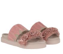 Schuhe Raffia Slipper Rose