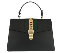 Sylvie Medium Top Handle Bag Black Satchel