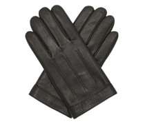 Handschuhe Logo Embossed Leather Gloves S-M