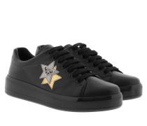 Calzatura Donna Vitello Soft Nero+Cromo Sneakers