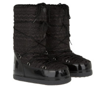 Boots & Booties - Heart Peace Moonboot Glossy Black