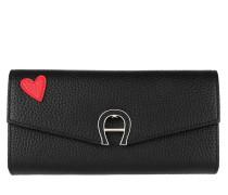 Fashion Heart Wallet Large Black