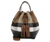 Heston Umhängetasche Bag Small Check Canvas Tan