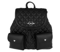 Quilted Nappa Backpack 2 Nero Rucksack