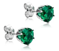 Ohrringe 9KT Created Emerald Earring
