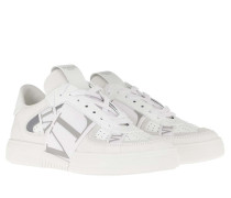 Sneakers VLTN Low Top Calf Leather White/Pastelgreen