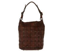 Monospalla Patchwork Rivet Bucket Bag Hobo