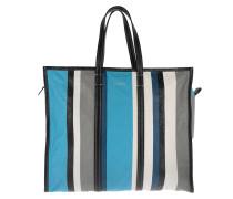 Bazar Shopper L Bleu/Gris/Blanc Umhängetasche blau