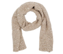 Maxi Ribbed Scarf Sequins Camel Rose Schal