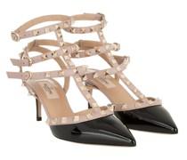Pumps Ankle Strap Rockstud Sandali Con Tacco Nero