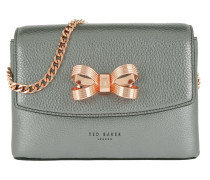 Lupiin Metallic Looped Bow Mini Xbody Gunmetal