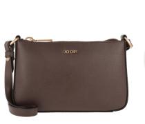 Eunike Shoulder Bag Small Dark Brown Umhängetasche braun
