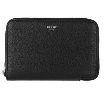 Medium Zipped Around Wallet Black