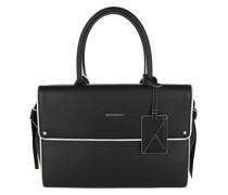 Tote Ikon Medium Top Handle Bag Black White