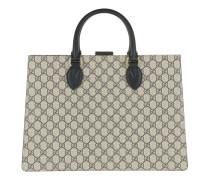 GG Supreme Top Handle Bag Beige/Blue Tote beige